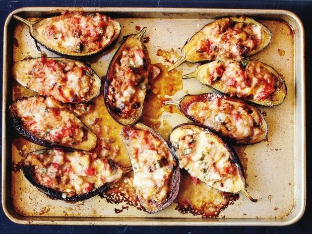 Wood Roasted Lamb Stuffed Aubergines with Manchego Cheese ...