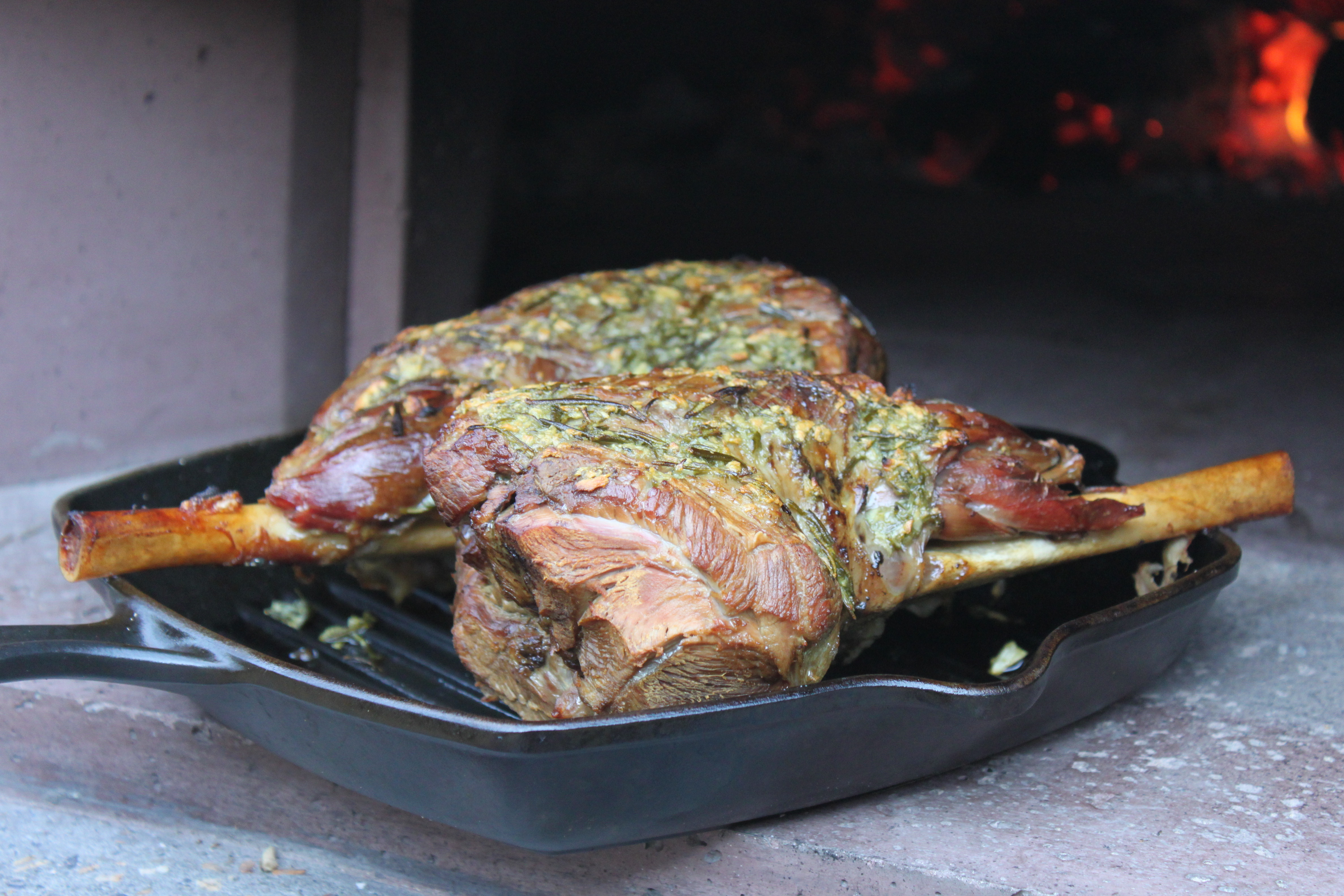 Wood Fired Leg Of Lamb The Stone Bake Oven Company