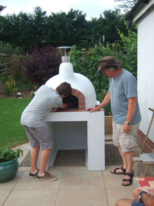 Cooking Bread Wood Oven