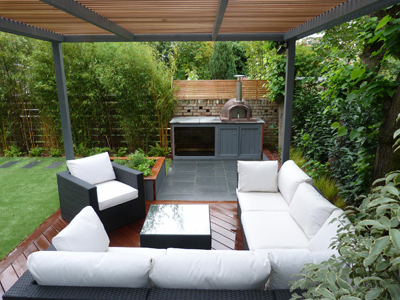 Elements garden design install primo 60 into stunning for Garden designs seating areas