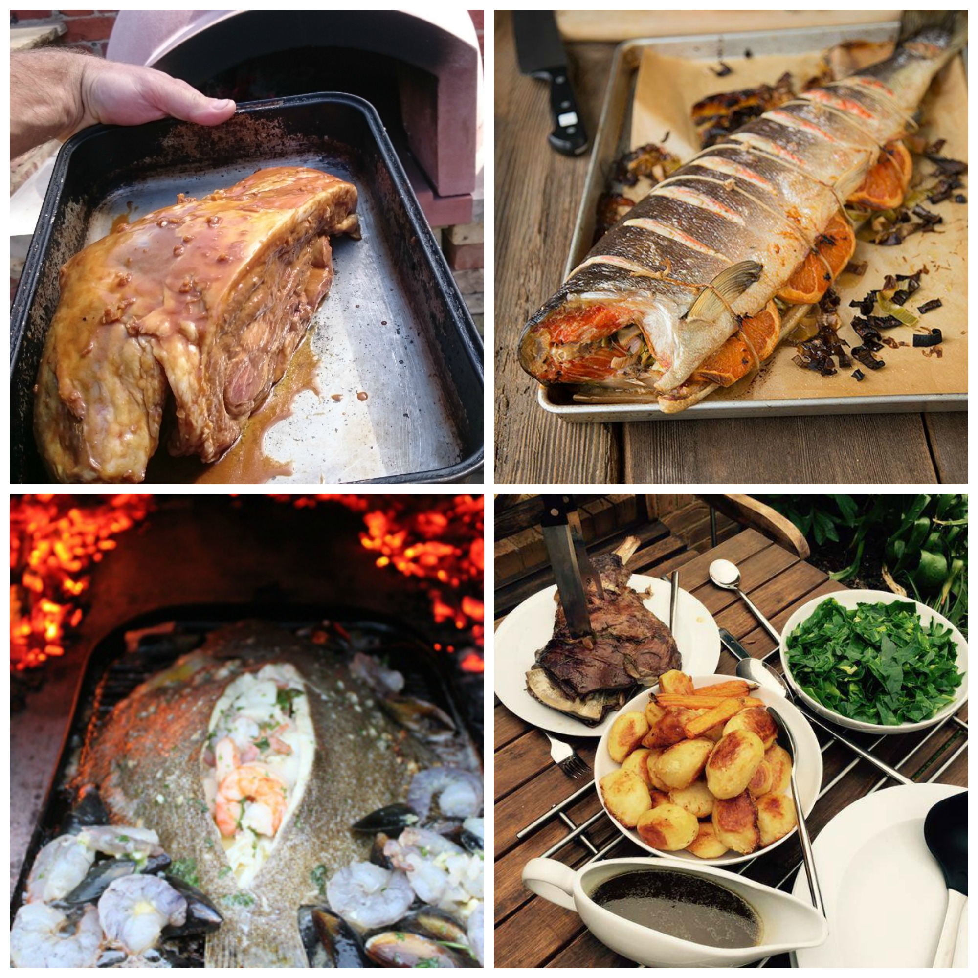 Hot smoking in your wood fired oven the stone bake oven for Broil fish in oven